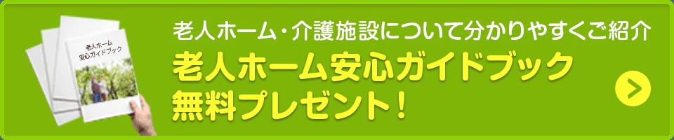 老人ホーム安心ガイドブック無料プレゼント!