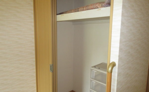 居室にはクローゼットもあり荷物の多い方も安心です