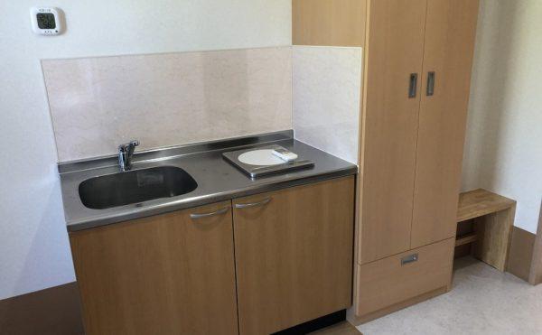 各居室にはキッチンが完備されています。