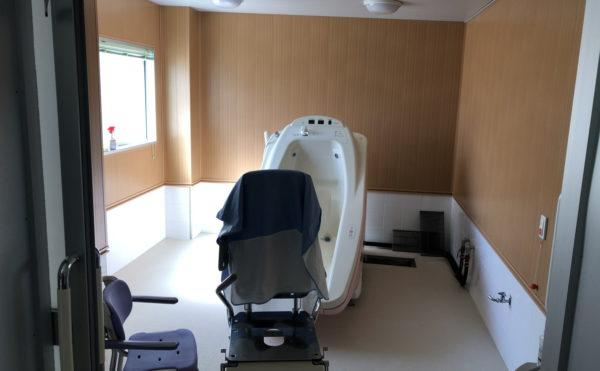 機械浴もありますので、介護度が上がっても安心