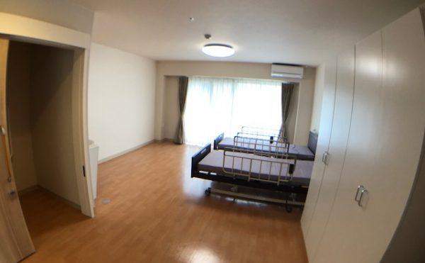 二人部屋(ご夫婦で入居可能)、27.9m2。(全8戸)