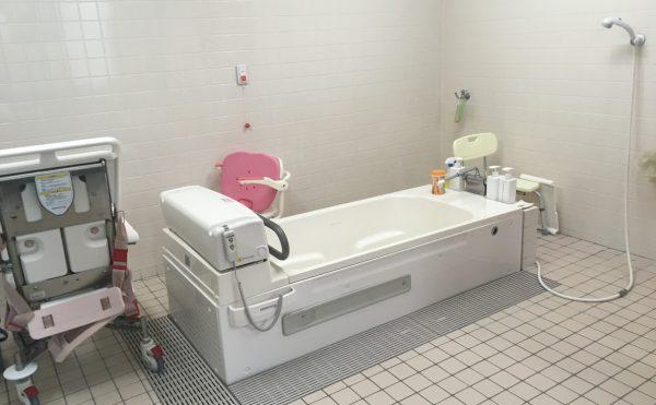 機械浴もあるので介護度が高い方にも安心