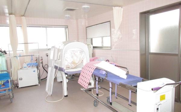 ミスト浴は心臓の負担も少なく介護度が重い方でも安心です