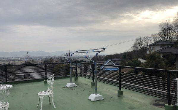 2階のテラスからは岡山市南区方面を一望できます。