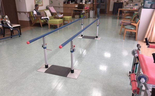 機能維持ができる設備。隣にある小野医院でのリハビリも可能
