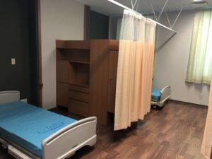 岡山市中区今在家に移転オープンした老人保健施設恵風苑4人部屋の写真