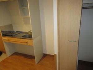 岡山市 サービス付き高齢者向け住宅 そんぽの家東古松S キッチンと収納
